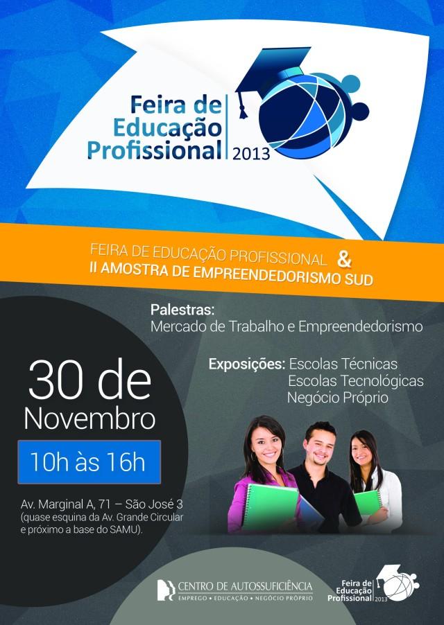 Flyer Feira de Educação Profissional 2013