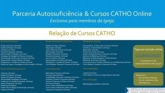 Lista de cursos Catho